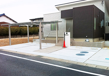 駐車スペース+カーポート